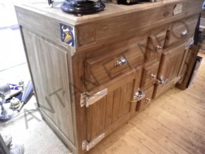 billot vieux bois ilot meuble de cuisine fbf10 de kercoet. Black Bedroom Furniture Sets. Home Design Ideas