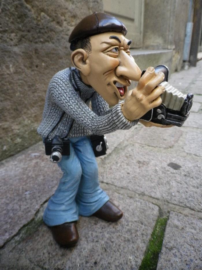 Figurine signes grimalt le photographe de presse boutique for Statut photographe