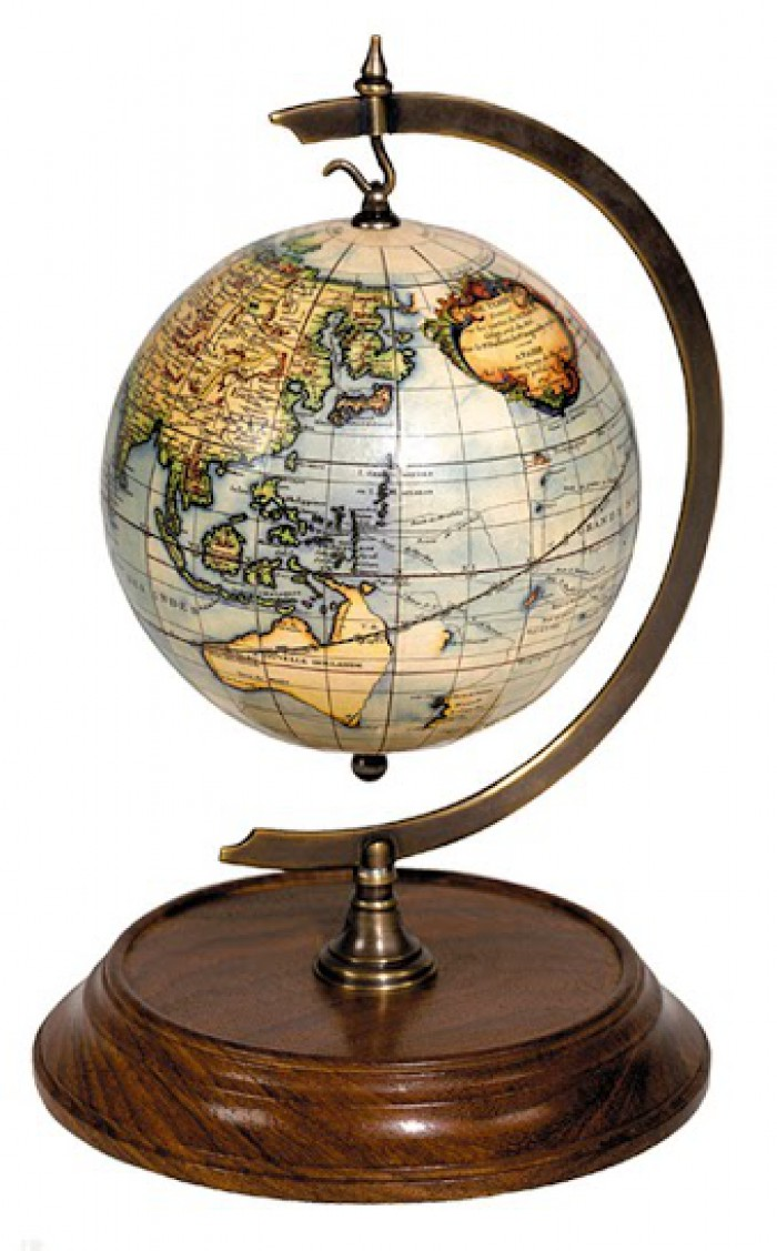 globe terrestre support bois et laiton gl000 terrestrial globe authentic models boutique