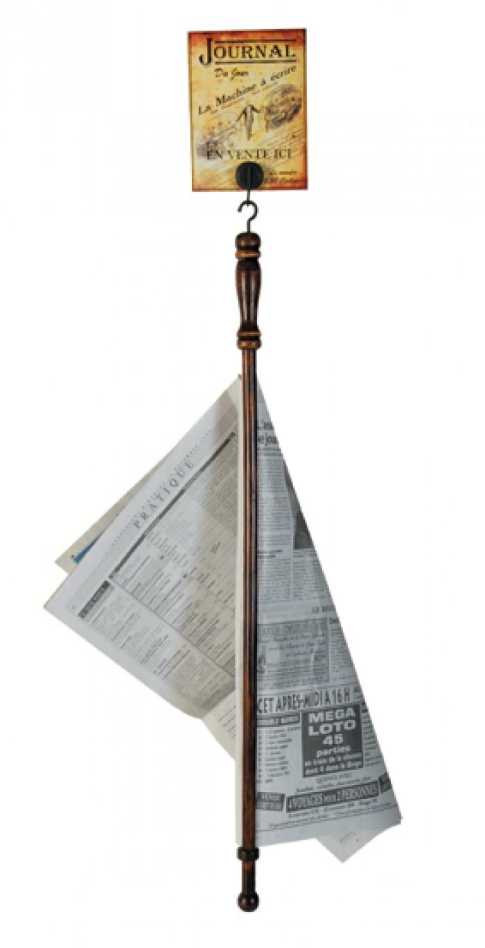 Aa porte journal bois et m tal for Porte journaux en bois