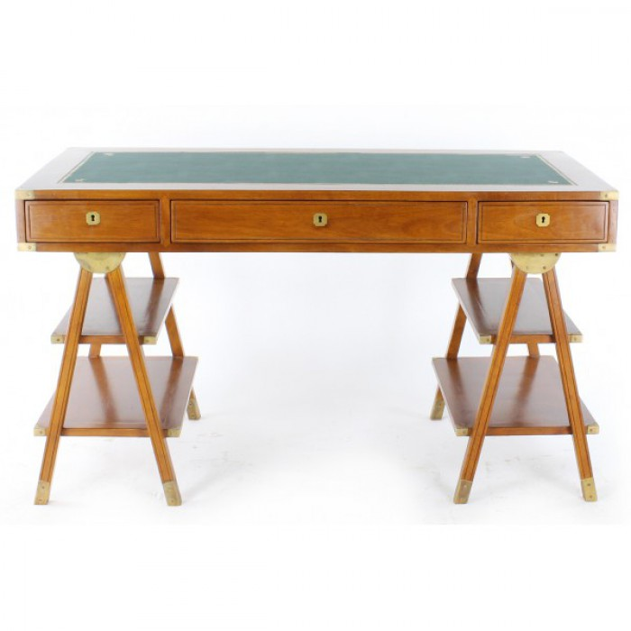 bureau marine dessus cuir vert r f burmar201 boutique antan et n o brive la gaillarde. Black Bedroom Furniture Sets. Home Design Ideas