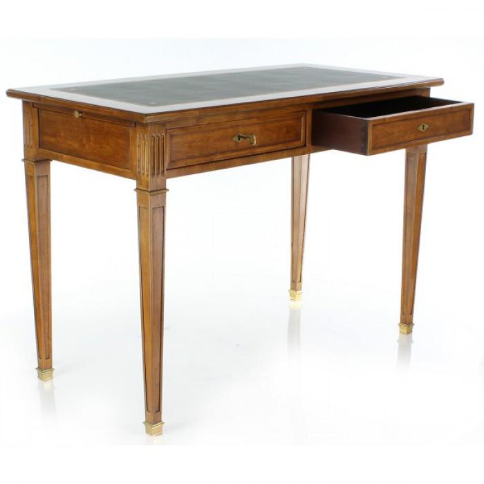 bureau directoire bois et dessus cuir l110 cm boutique antan et n o brive la gaillarde. Black Bedroom Furniture Sets. Home Design Ideas
