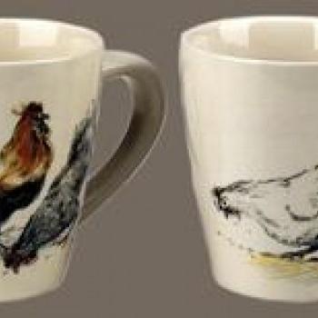 Coffret 4 mugs basse cour poule oie canard coq country corner boutique anta - Country corner vaisselle ...