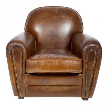fauteuil club cuir vieilli vintage. Black Bedroom Furniture Sets. Home Design Ideas