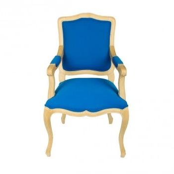 Fauteuil cabriolet tissu bleu louis xv mt19 boutique antan et n o brive la ga - Fauteuil cabriolet bleu ...