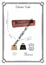 Canape Chesterfield 3 places Cube cuir cigare MC98