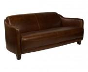 Canape 3 places Le Gentleman cuir couleur cigare MC163