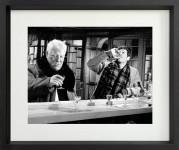 Photo encadrée du FILM UN SINGE EN HIVER avec GABIN et BELMONDO