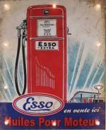 1AA - Panneau Lumineux Pompe à Essence Huile Esso - Garage Voiture Moto