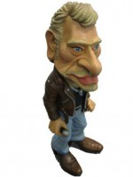 00000000 - Figurine Johnny Hallyday Caricature