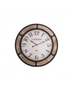 0000 - Horloge Pendule l'entrepot - Bistrot - BAR métal et bois