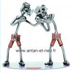 Figurine METAL HINZ & KUNST boxe duo - SPORT
