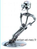 Figurine METAL HINZ & KUNST hockey sur glace solo - SPORT