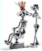 Figurine METAL HINZ & KUNST le coiffeur