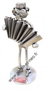 Figurine METAL HINZ & KUNST musicien accordéoniste