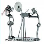 Figurine METAL HINZ & KUNST photographe et mannequin MODE