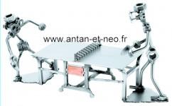Figurine METAL HINZ & KUNST ping pong tennis de table - SPORT