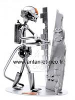 Figurine METAL HINZ & KUNST pompier firefighter