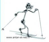 Figurine METAL HINZ & KUNST ski skieur de fond - SPORT