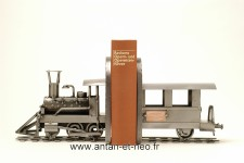 Figurine METAL HINZ & KUNST transport locomotive serre livre TRAIN