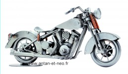 Figurine METAL HINZ & KUNST véhicule moto style HARLEY Davidson  modèle 2