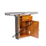 000000 - Bar Wing comptoir aluminium estaminet bistrot industriel aero aile avion ALUBAR06