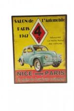 Tole renault 4cv de 1947 automobile voiture for Garage louis vincennes