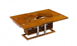 0000 - Table Basse MADISON  à Abattants Design bois et INOX REF IXTBB46