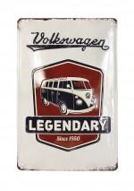 Tole publicitaire Combi Volkswagen legende