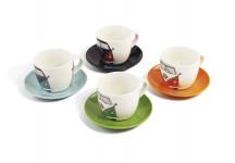 Set de 4 tasses à café Combi Volkswagen  - BUTA50