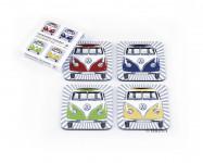 000 - Set de 4 dessous de verres Combi Volkswagen BUCO10