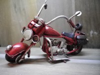 MOTO métallique PM de couleur Rouge - Garage - Automobile