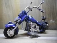 0AAA - MOTO métallique PM de couleur Bleu - Garage - Automobile