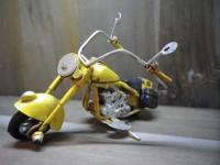 MOTO métallique PM de couleur Jaune - Garage - Automobile