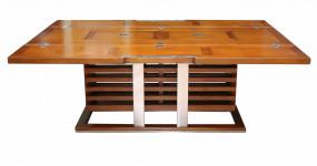 Table Basse bois et INOX à abattants IXTBB46