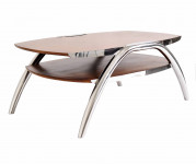 0000 - Table Basse Design bois et INOX REF IXTBB49