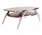0000 - Table Basse Design bois et INOX REF IXTBB49