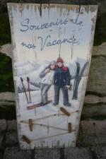 Tableau Enseigne Relief Ski Souvenirs de Vacances - porte Photos  - Country Corner EJMH