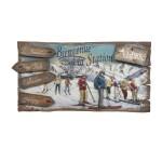 Tableau Enseigne Relief Bienvenue en station ski - Country Corner EJME