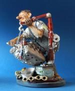 A - figurine le Mécanicien Voiture Garage automobile