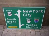 AAA - Plaque de signalisation USA NEW YORK - Déco Industrielle
