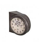 0000 - Pendule Horloge DOUBLE FACE Atelier Garage Gasoil ESSENCE auto moto Industriel