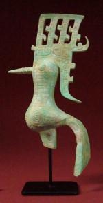 Figurine patine Bronze  SHU DE LA DYNASTIE SHANG Art Chinois
