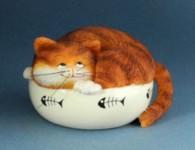 Chat Figurine  FAT CAT Nine Lives