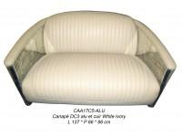 Canapé aluminium 2 places Cuir et Métal creme ivoire CAA17C5 ALU - Aviation - Aero - DC3