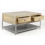 00000 - Petite TABLE basse à 4 tiroirs MOBILIER INDUSTRIEL  REF IN80