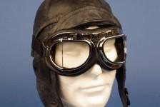 Avion Lunettes décoration aviateur Flyers Goggle chrome ST15610C - Aviation - Aéro
