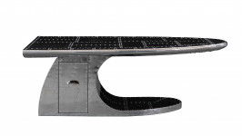 000000 - Table Basse aviation avec tiroir   - Aile d'Avion - Aéro WING ALUTBB06 AVIATEUR