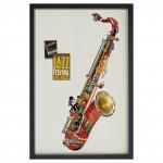 Tableau sous verre Saxophone jazz blues usa réf TC08
