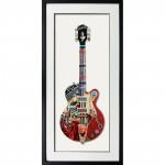 0000- Tableau sous verre Guitare jazz blues usa réf TC14